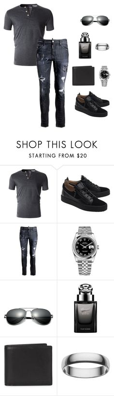 """Hunting Carlisa V. Marie; Stuck in Reality ~Jason Marie"" by carlisafights ❤ liked on Polyvore featuring Giuseppe Zanotti, Dsquared2, Rolex, Gucci, Coach, Cherish Always, men's fashion and menswear"