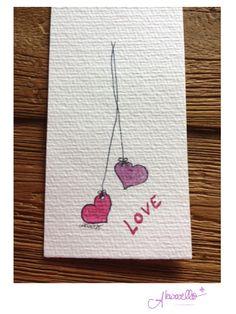 Love, Love, Love by Akwarello #Glückwunschkarten zur Hochzeit #weeding #heart #Liebe #Heiraten