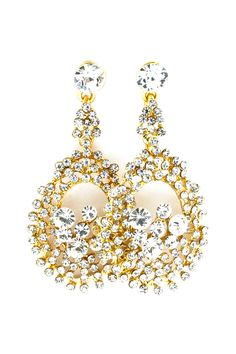 Audrey Earrings in Crystal