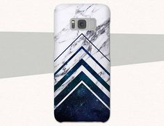 Space Chevrons on Marble Geometric phone case for iPhone, LG, Google, Samsung and more. Textures are printed on the case. >>>NOT real marble.<<< Brighten up your pocket or handbag with a fun, unique, quality phone case. Designed with space grade material and function in mind, these