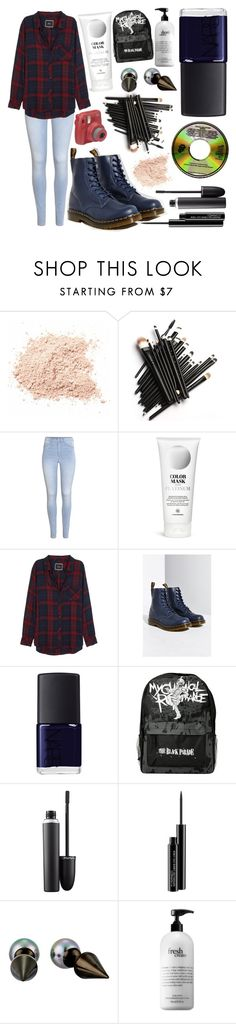 """I've got troubled thoughts and self esteem to match"" by annalaris on Polyvore featuring H&M, Rails, Dr. Martens, NARS Cosmetics, MAC Cosmetics, Majorica, philosophy and BrendonUrie"