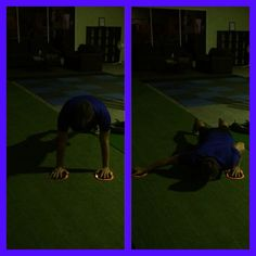 Iso Push-Up with Lateral Valslide. #pushupproject365 #rawfast