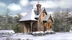Whimsical Cottage House Plan - 69531AM | Architectural Designs - House Plans