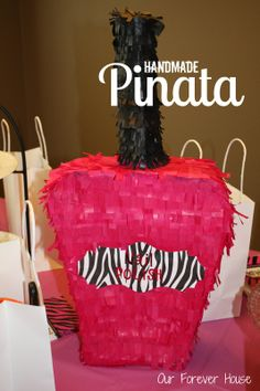 Our Forever House: Girly Spa Party Handmade Nail Polish Pinata