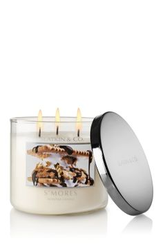 smells exactly like s'mores, except without the burning eyes and scorched fingers of the real thing.