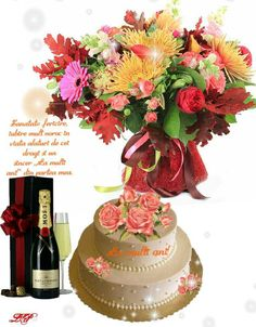 Gifs, Happy Birthday, Cake, Beauty, Happy B Day, Happiness, Birthday Congratulations, Happy Aniversary, Pie Cake