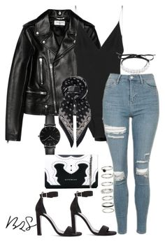 """""""#727"""" by blendingtwostyles ❤️ liked on Polyvore featuring Yves Saint Laurent, Dion Lee, Fallon, CLUSE, Topshop and Givenchy"""