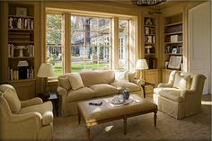 Country French Renovation Photos - Eric J. Smith Architect ~ a really inviting sitting room, lovely!