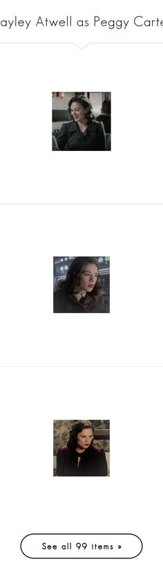 """Hayley Atwell as Peggy Carter"" by imawkwardhey ❤ liked on Polyvore featuring peggy carter, marvel, hayley atwell, avengers/agent carter icons, icon, comic, avengers, costumes, avengers costumes and captain america avengers costume"