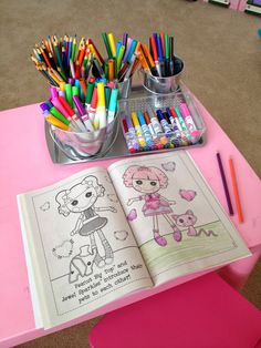 Organize your kids art supplies with a $1 cookie sheet, a couple of $1 pails and some magnets.