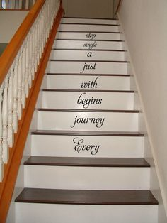 Love is patient. Love is patient. Love is patient. Love is patient. Escalier Art, Stairway Art, In This House We, House Inside, House Stairs, Basement Stairs, Wood Stairs, Front Stairs, Stairs Vinyl