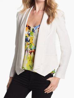 White Lapel Single Button Slim Blazer - Fashion Clothing, Latest Street Fashion At Abaday.com