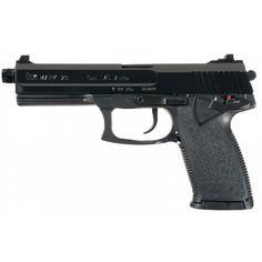 Heckler Koch Mark 23 Semi-Automatic Pistol with Case ❤ liked on Polyvore featuring weapons, fillers, guns, accessories and armas