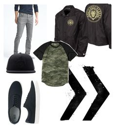 """""""Roots, Rock, Reggae"""" by pressthreads on Polyvore featuring Banana Republic, Hollister Co., Uniqlo, Stussy, men's fashion and menswear"""