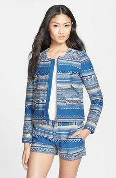 Joie 'Lindra' Crop Multistripe Jacket available at #Nordstrom