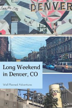 How to spend four days in Denver, Colorado including day trips to Rocky Mountain National Park, Red Rocks and Golden, Colorado Red Rocks Colorado, Denver Colorado, Colorado Springs, Keystone Colorado, Denver Travel, Travel Usa, Travel Oklahoma, Travel Packing, Weekend Trips