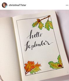 bullet journal - hello September cover page Bullet Journal Inspo, Bullet Journal Junkies, Bullet Journal Spread, Bullet Journal Layout, Bullet Journal September Cover, Journal News, My Journal, Journal Pages, Journal Covers