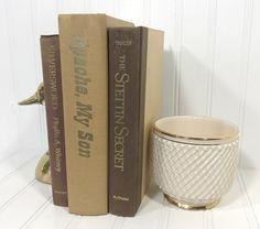 Brown Decorative Book Set by ElementsByAmber on Etsy Shelf Decor, Shelf Decorating, Mantel Decor, Mantel Decorating