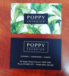 Business card design for a florist #freshdesign #foliage