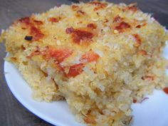 """Cheesy Quinoa Mac & Cheese   This is a protein packed alternative to Mac N' Cheese, and well…Delicious! Quinoa, pronounced """"KEEN-WAH!"""" packs a powerful nutritional punch. It has protein and fiber to keep you satisfied, and quinoa contains ALL the amino acids as well. You could add any veggie- NOTE: If you feel you are after the really """"cheesy""""-mac n' cheese vibe… you may want to have it noted to add a bit more cheese than what I use."""