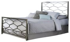 Fashion Bed Camden Bed in Golden Frost-Queen size - modern - Beds - Cymax