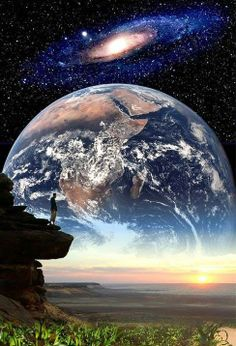 Land, Earth, & Milky Way- astronomy nov. Cosmos, Psy Art, Jehovah's Witnesses, Gods Creation, Galaxy Wallpaper, Milky Way, Belle Photo, Science Nature, Oeuvre D'art