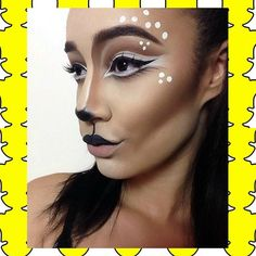 "♡Doe, a deer...a female deer...♡ Deer Makeup - Halloween makeup - Halloween deer - Doe - snapchat filter makeup • #jessicamakeupxx (YOUTUBESNAPCHATTWITTER = ""JessicaLoves_x"") •"