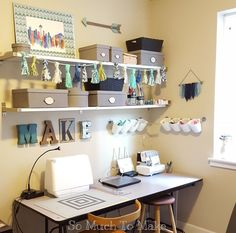 Small Space Sewing Room Makeover