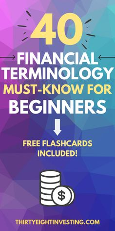 Financial terminology everyone must know! These 40 financial terms are important for everyone new to personal finance to understand. Personal finance terms // finance words to know // best finance terms // top money terms #financequotes #personalfinancetips Finance Quotes, Finance Tips, Financial Literacy, Financial Planning, Individual Retirement Account, Making A Budget, Budgeting Finances, Being A Landlord, Money Management