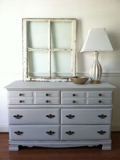 Timeless Classic distressed grey dresser by ChelseasGarage on Etsy, $325.00