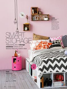 Unique storage ideas #smart #bedroom