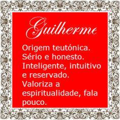 Significado do nome Guilherme | Significado dos Nomes