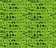halloween_fab_n_gift_wrap fabric by poplyn on Spoonflower - custom fabric