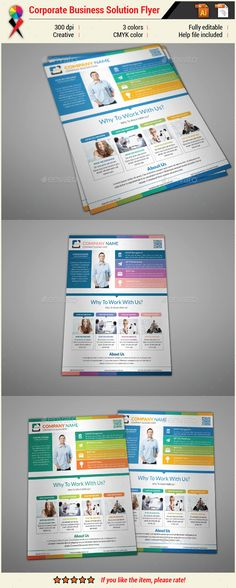 Corporate Infographic Business Solution Flyer
