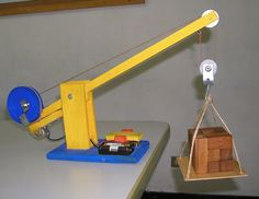 Diy wood model crane wooden pdf plans for wooden toy box ideas diy wood projects for kids wooden toys toddlers diy toys Woodworking Toys, Woodworking Projects, Toy Crane, Diy Toy Box, Wooden Toy Boxes, Simple Machines, Diy Holz, Wood Toys, Diy Wood Projects