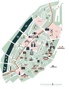 Vector map of Copenhagen www.behance.net/...