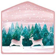snow flower deers by kyenam
