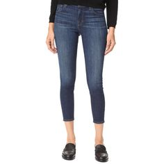 J Brand 835 Mid Rise Crop Jeans (12,820 INR) ❤ liked on Polyvore featuring jeans, 5 pocket jeans, skinny fit denim jeans, 5 pocket skinny jeans, skinny fit jeans and denim skinny jeans