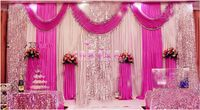 Wedding supplies Stage Backdrop with Detachable Swag Top-rated 10ft*20ft Party wedding Backdrop Deluxe stage decoration