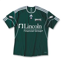 Green adidas-style Eagles soccer jersey.