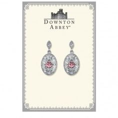 Downton Abbey® Boxed Silver-Tone Light Amethyst Crystal Drop Earrings