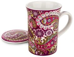 Vera Bradley Very Berry Paisley Mug