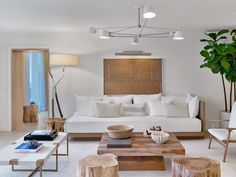 Modern Living Room in Miami Beach, FL by Meyer Davis
