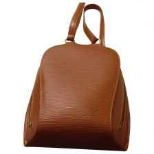 LOUIS VUITTON Camel Leather Backpack