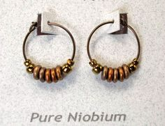 Stammes-Niob Hoop Ohrringe-1/2 Zoll-22 Monitor-Antique Bronze Olive-Hypoallergen Ohrringe für empfindliche Ohren-Nickel Free-Böhmische Hoops