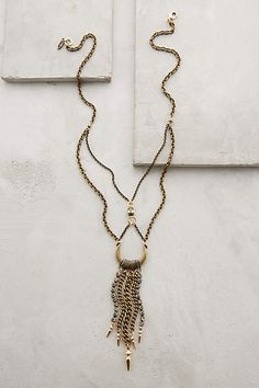 INTERESTING ADDITIONS TO THE BONE!! ROUNDED BONE!! Chained Crescent Necklace - anthropologie.com #anthrofave