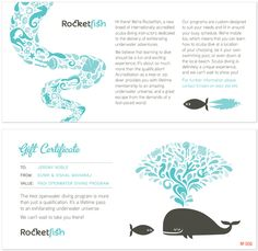 Rocketfish Scuba, Australia. Brand development by Studio Lost & Found – http://www.studiolostandfound.com/ #branding #identity #logo #fish #rocketfish #studiolostandfound #scuba