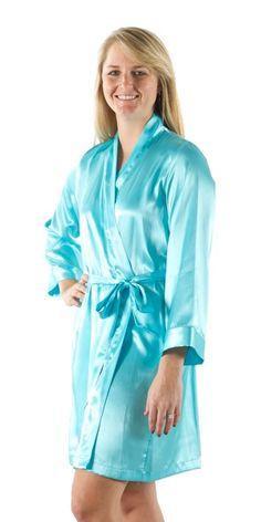 Turquoise Wedding Day Robes f6b33ee08