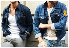 Looks masculinos com camisa jeans