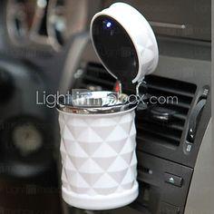 accesorios de automóviles de lujo llevado portable del cenicero del coche de alta calidad cilindro cigarrillo universales estilo coche del - EUR €11.75